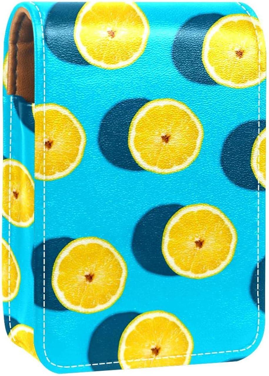 Finally resale start Yellow Lemon Fruit Lip New color Gloss Makeu Case Holder Lipstick Portable