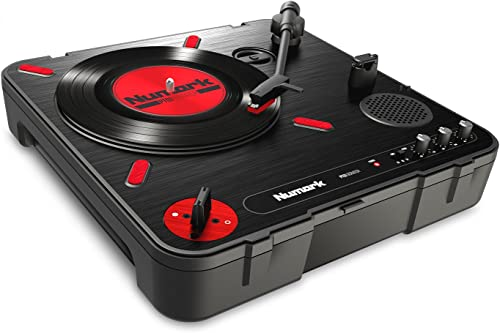Numark PT01 Scratch | DJ Turntable for Portablists With User Replaceable Scratch Switch, Built In Speaker, Power via ...