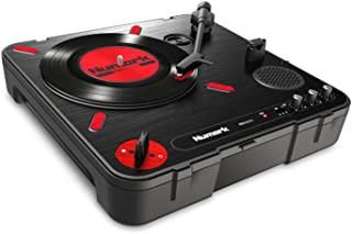 Numark PT01 Scratch Portable Turntable with Built-In DJ Scratch Switch, Speaker, & Carrying Handle