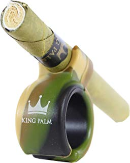 Smoke Ring for Cigarettes, King Palm Rolls and More   Hands Free Smoke   Universal Silicone Design (Camo Design)