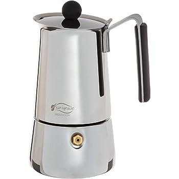 CHISTAR - Cafetera de espresso, cafetera para estufa, cafetera Moka: clásica cafetera de acero inoxidable 430 para 6 tazas (300 ml), apta para cocinas de inducción (cocina de espresso): Amazon.es: Hogar