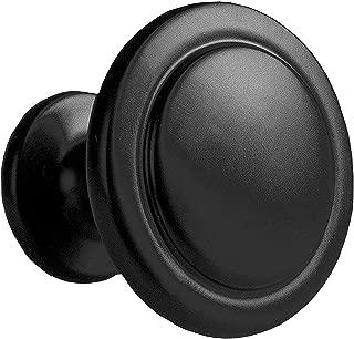 Flat Black Kitchen Cabinet Knobs - 1 1/4 Inch Round Drawer Handles - 10 Pack of Kitchen Cabinet Hardware