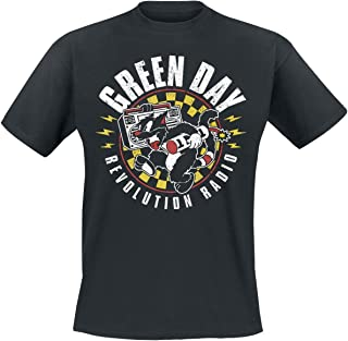 Green Day Revolution Radio - Checker Cat Camiseta Negro L