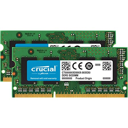 Crucial [Micron製Crucialブランド] DDR3 1866 MT/s  (PC3-14900) 16GB Kit (8GBx2) CL13 SODIMM 204pin 1.35V/1.5V CT2KIT102464BF186D