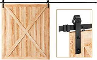 EaseLife 12 FT Heavy Duty Sliding Barn Door Hardware Track Kit,Ultra Hard Sturdy,Slide Smoothly Quietly,Easy Install,Fit u...