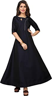 Ethnicset- Women's Anarkali Style Semi Stitched Gown for Girl Women