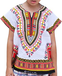 قميص RaanPahMuang للأطفال من الجنسين من القطن الناعم 100% بأكمام قصيرة Wht