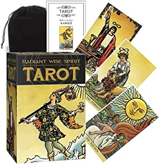 Kancharo タロットカード 78 枚 タロット占い【ラディアント ワイズ スピリット タロット Radiant Wise Spirit Tarot】日本語説明書&ポーチ付き(正規品)