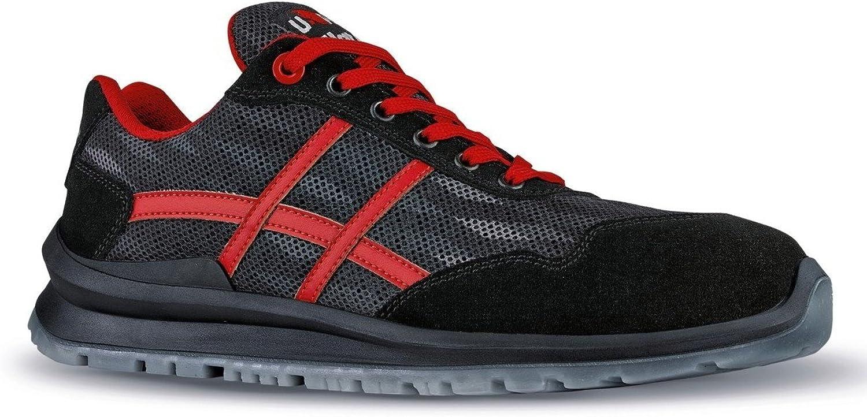 U POWER Men's Safety shoes black red   black