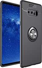 Galaxy Note 8 Case,DAMONDY Carbon Fiber 360 Degree Rotating Ring Holder Stand for Magnetic Car Mount Holder Kickstand Drop Protection Defender Case for Samsung Galaxy Note 8-Black