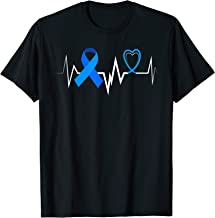 Heartbeat Blue Ribbon Diabetes Awareness Shirt Women Men