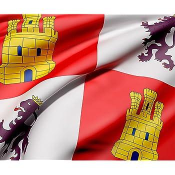 Bandera de La Comunidad de Melilla 85x1,50cm Reforzada y con Pespuntes Bandera de La Comunidad de Melilla Con 2 ojales Met/álicos
