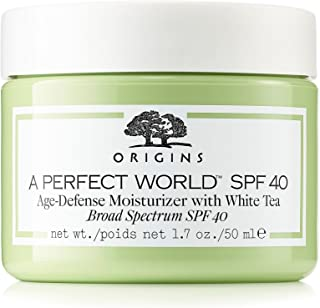 Origins A Perfect World SPF 40 AGE-DEFENSE MOISTURIZER WITH WHITE TEA.1.7OZ (Unbox)