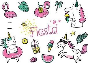 """Edition Colibri 10 Invitaciones en español """"Fiesta DE Piscina"""": Juego de 10 Invitaciones para el cumpleaños Infantil con Unicornio y Flamenco (10981 ES)"""