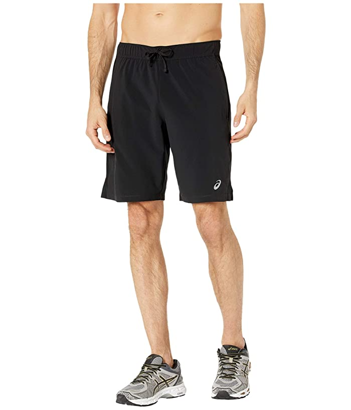 ASICS  9 Stretch Woven Train Shorts (Performance Black/Performance Black) Mens Shorts