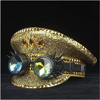 SHENTIANWEI Men Women Cotton Police Hat Steampunk Metal Classes Performance Captain Hat Adult Hat Military Hat 3 Size