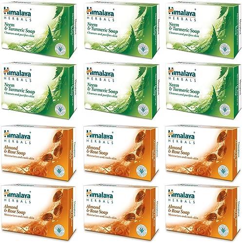 Himalaya Herbals Neem And Turmeric Soap, 125g (Pack Of 6) And Himalaya Herbals Honey and Cream Soap, 125g (Pack of 6)