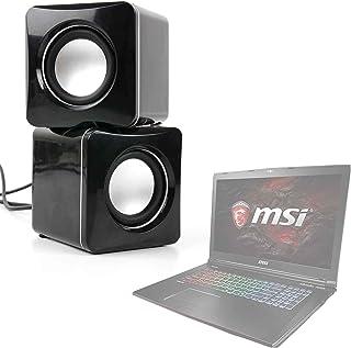 DURAGADGET Altavoces Compactos para Portátil MSI GE72 7RG-050XES Apache Pro, MSI GE63 Raider 8RE-020ES, MSI GE63 Raider 8RE-021XES, MSI GF62 7RE-1808XES - Tamaño Mini - Conexión Mini Jack + USB