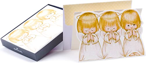 Hallmark Religious Boxed Christmas Cards, Three Angels (16 Cards and 17 Envelopes)