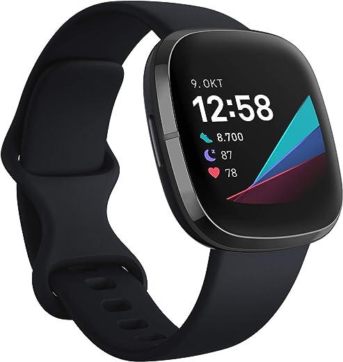 Fitbit Sense - Geavanceerde smartwatch functies voor een gezond hart, stressbeheersing, huidtemperatuur en meer
