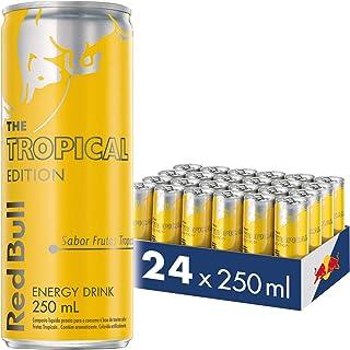 Energético Tropical Red Bull Energy Drink Pack com 24 Latas de 250Ml