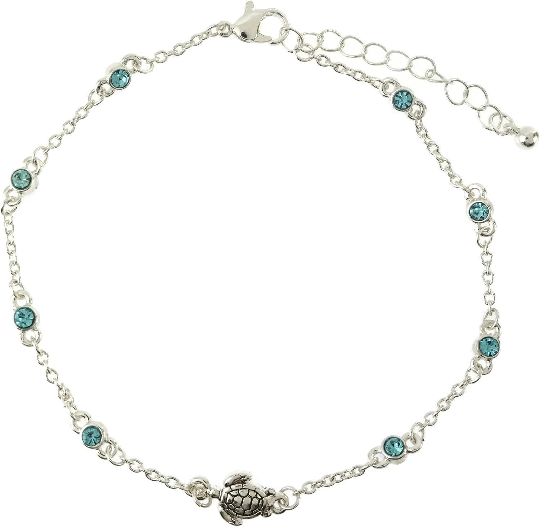 Elosee Turtle Popular brand Charm Color Anklet Sealife Stone Overseas parallel import regular item Link