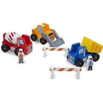 Melissa & Doug Construction Vehicle Set (8 pcs)