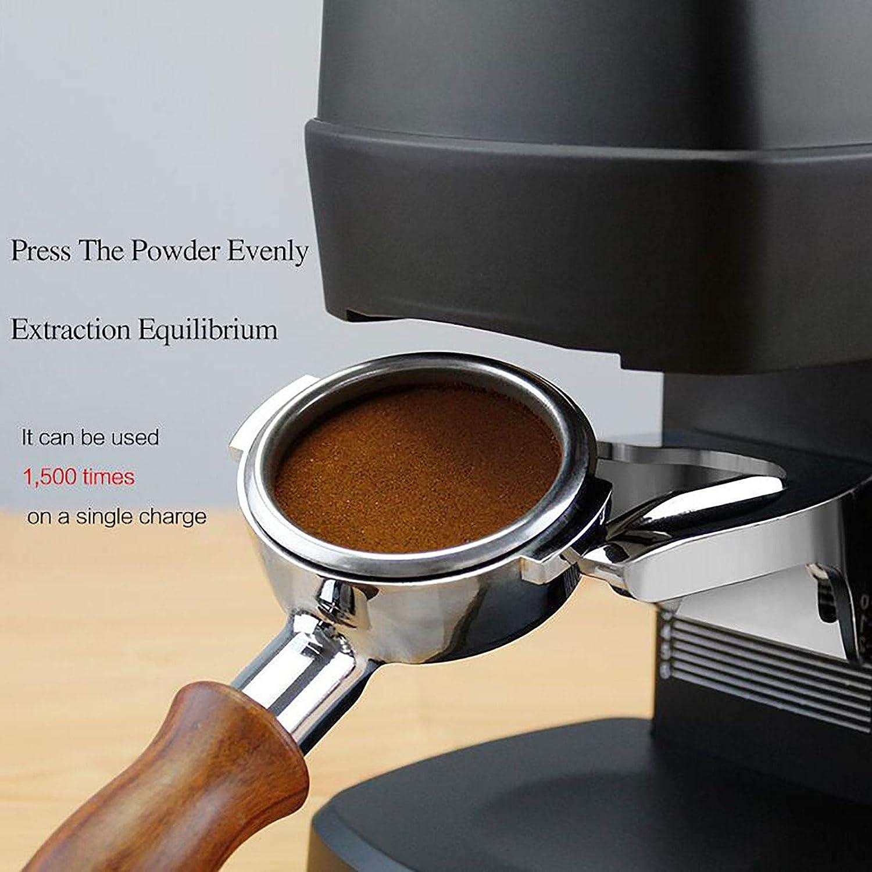 Koffiepoederpers-Elektrisch, Diameter: 58 Mm, Druk: 10-30 Kg / 20-60 Lbs, Hoog Rendement/Digitaal Display, 1500 Keer Continu Gebruik, Voor Familie Coffeeshop,Black White