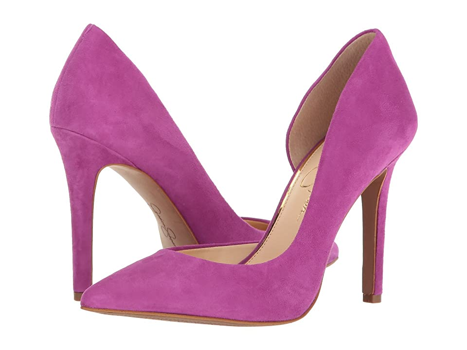 Jessica Simpson Claudette (Polished Pink Luxe Kid Suede) High Heels