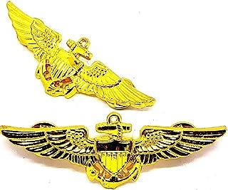 USN US NAVY Pilot Aviator Aviation Wing Badge GOLD PLATED Pin Insignia Regulation Size 3