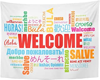Welcome word three colors to hang