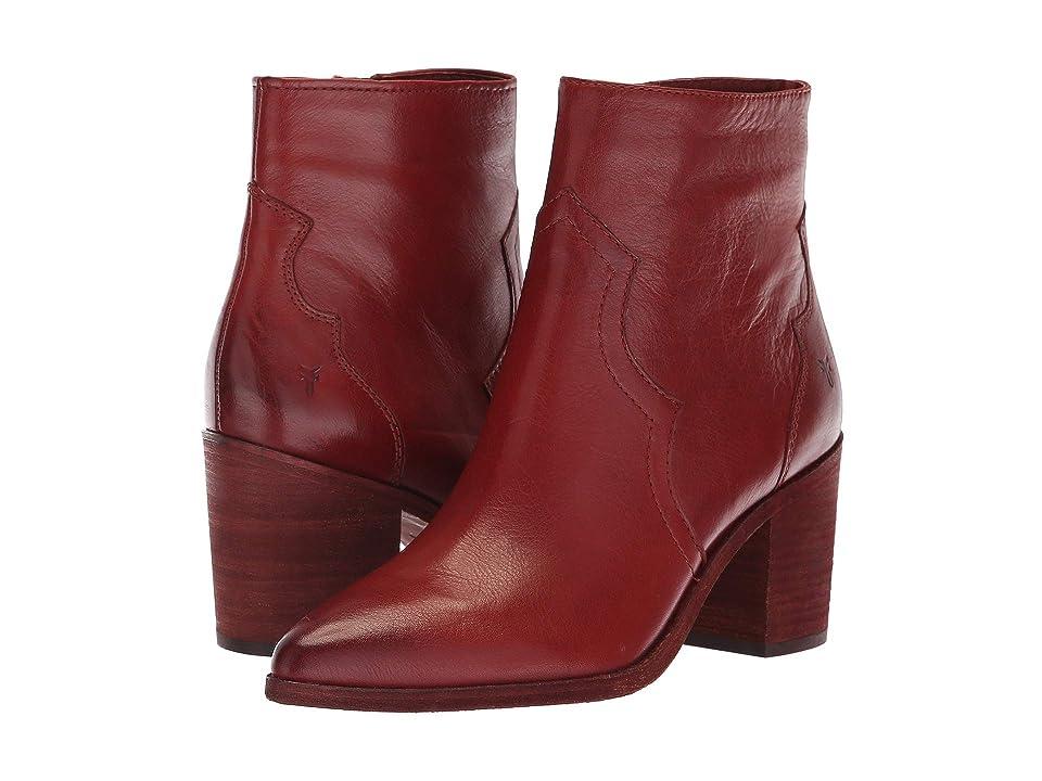Frye Flynn Short Inside Zip (Red Clay Polished Soft Full Grain) Women