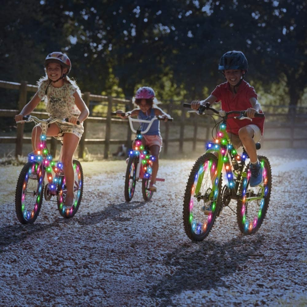 Bike Spoke Lights Cycling Decoration Safety Warning for Kids Adults Outdoor Family Night Riding ELlight LED Bicycle Wheel Lights