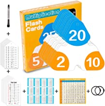 FaCraft Multiplication Flash Cards 0~12 with Practice and Test Cards for Education,Self-Checking for Kids in 3rd, 4th 5th & 6th Grade