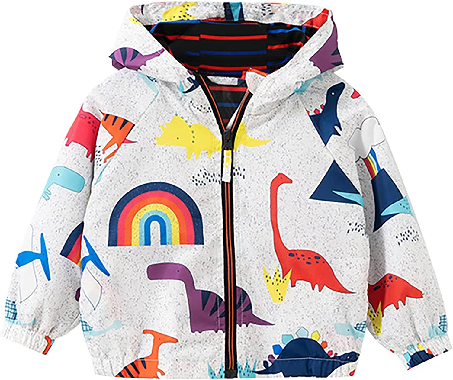 Toddler Boys Spring Fall Outfit Zipper Hooded Windbreaker Jacket Baby Kids Windproof Coat Outerwear Clothes