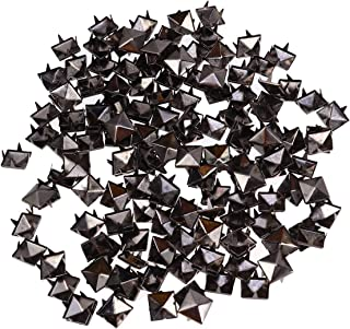 HEALLILY 400Pcs 10mm Four- Jaw Square Rivets Metal Leather Rivets Handicraft DIY Spikes Spots Studs Accessories for Shoes ...