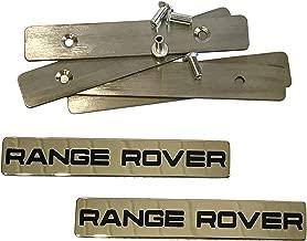 Range Rover Style - Floor Mat Emblem Set of 2 pcs - Floor Mats Logo Badges - for Land Rover Range Rover Vehicles