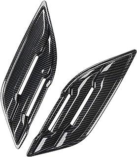 KJGHJ Fit for Ford Raptor F150 Car Sticker Air Outlet Filter Side Fender Vent Cover Trim Carbon Fiber Auto Exterior Accessories 2017-2020 Bonnet Side Fender (Color : Carbon Fiber)
