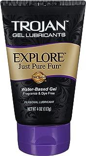 Trojan Explore Water-Based Personal Lubricant Gel – 4 oz