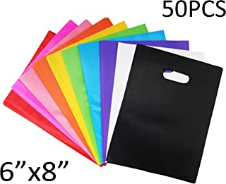 SKKSTATIONERY Party Favor Bags 50 Pcs, Assorted Plastic Goody Bags, for Kids Birthday