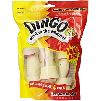 Dingo Premium Rawhide Dog Bone Made With Real Chicken