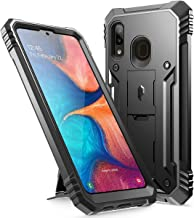 Poetic Galaxy A20 Rugged Case with Kickstand, Galaxy A30 Case, Full-Body Dual-Layer Shockproof Protective Cover, Built-in-Screen Protector, Revolution,Defender Case for Samsung Galaxy A20 /A30, Black