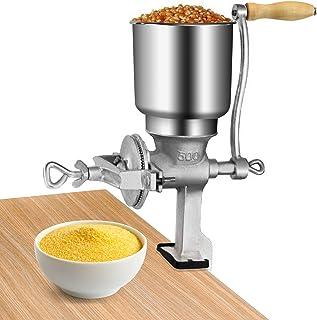 Handmatige graan Grinder Mill, Verstelbare Grain Grinder Machine, Gietijzeren Grain Crusher met grote Hopper voor tarwe Ri...
