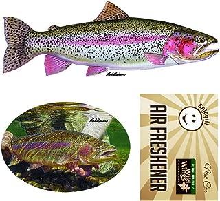Enjoy It Wild Wings Rainbow Trout Car Sticker and Air Freshener Set