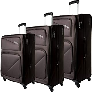 American Tourister Luggage Trolley Bag for Unisex 3 Pieces - Brown