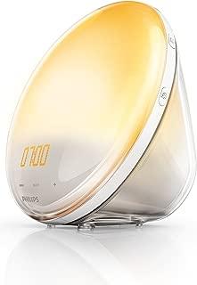 Philips Wake-Up Light Alarm Clock HF3520/01 Coloured Sunrise Simulation - 5 Sounds and Radio Function by Philips