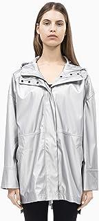 Calvin Klein Women's Hi-Low Hooded Rain Slicker Jacket