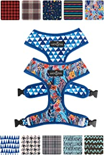 Lucy & Co. Reversible Dog Harness Walking Halter - Best Designer Pet Harnesses for Extra Small Medium Large XL Dogs Plus Pug Breeds - Padded Adjustable Puppy Vest