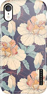 iPhone XR Case Vintage Floral, Akna Sili-Tastic Series High Impact Silicon Cover with Full HD+ Graphics for iPhone XR (Graphic 101796)