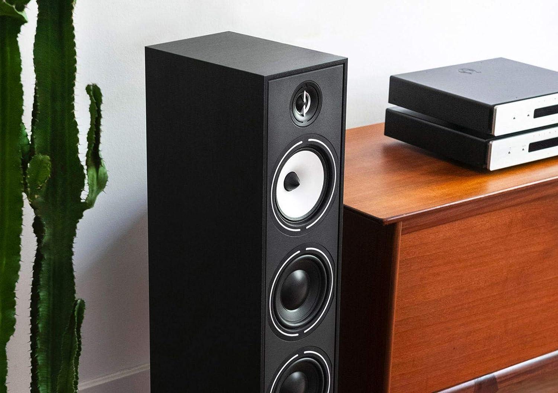 triangle 2 Pack HiFi Floor Standing Speaker - Borea BR08, Black Ash, Single